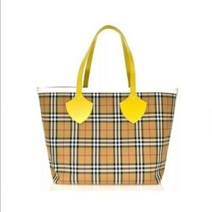Burberry Giant Reversible Large Yellow Canvas Tote